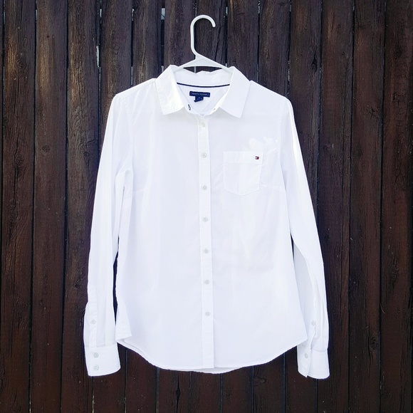 071e16fb713 TH Women's Classic White Button Down Shirt